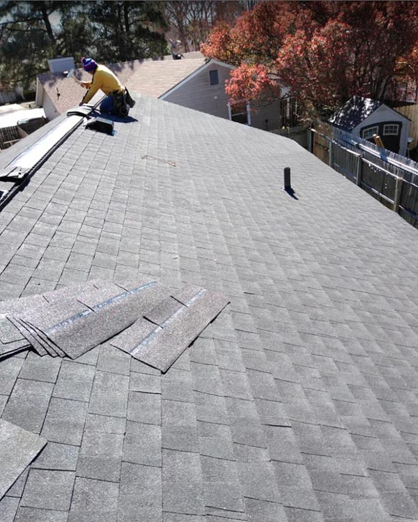 shingle replacement on roof